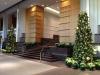 Christmass decor in a lobby in Atlanta