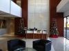 Small lobby Christmas decor